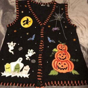 (not ugly) Halloween sweater vest. Size M-L